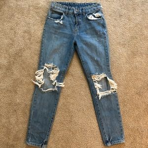 LF/Carmar High Waisted Destroyed Denim Jeans